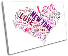 New York Heart I Love Typography - 13-0256(00B)-SG32-LO